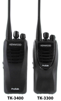 Kenwood TK-3300 / TK-3400 Comparison - Front