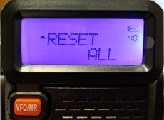 How to reset a Baofeng UV-5R two way radio