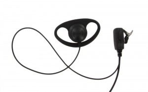 XLT DR110 D-Ring Earpiece with Lapel PTT Microphone