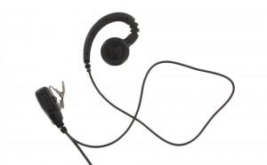 XLT EB310 C-Ring Swivel Earpiece with Lapel PTT Microphone