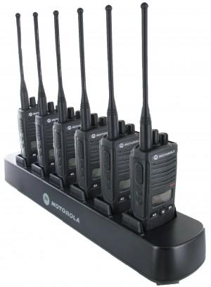Motorola RDX RDU4160d Radio Six Pack + Multi-Charger