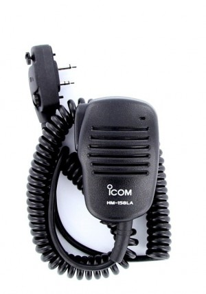 Icom HM-158LA Compact Speaker Mic w/ Alligator Clip