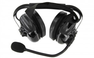 XLT HS500 Heavy Duty Dual Muff Headset with PTT and Mic
