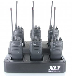 Icom F4011 Six Pack + Multi-Charger