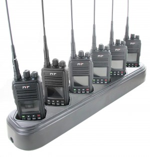 TYT MD-380 DMR Digital Radio Six Pack + Multi-Charger (UHF)