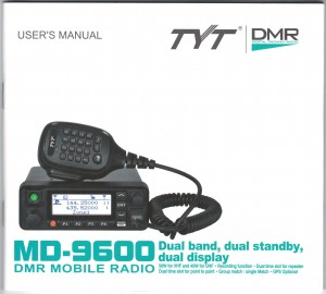 TYT MD-9600 User Manual