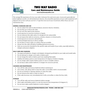 Two Way Radio Care and Maintenance Kit
