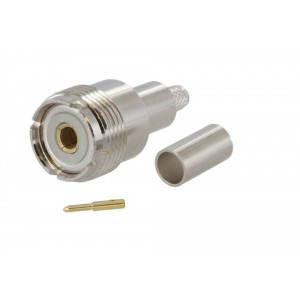 UHF Female (SO-239) Crimp Connector For RG-58 Coax