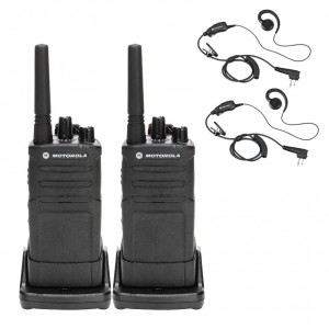 Motorola RM RMU2080 Radio Two Pack + Two Swivel Earpiece
