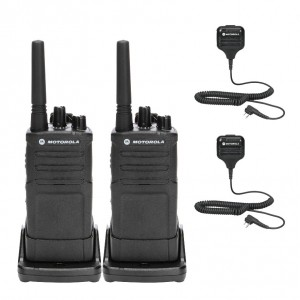 Motorola RM RMU2080 Radio Two Pack + Two Speaker Microphones
