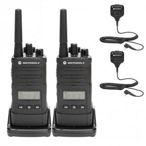 Motorola RM RMU2080d Radio Two Pack + Two Speaker Microphones