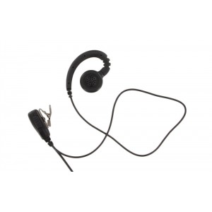 XLT EB310 C-Ring Swivel Earpiece with Lapel PTT Microphone