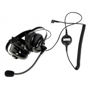 Impact Platinum PDM-1-NC Double Muff Headset w/Inline PTT