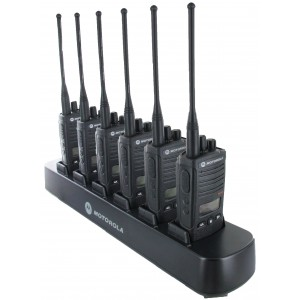 Motorola RDX RDU4160d Radio Six Pack + Multi-Charger
