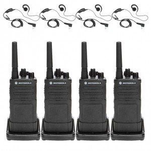 Motorola RM RMU2080 Radio Four Pack + Four Swivel Earpiece