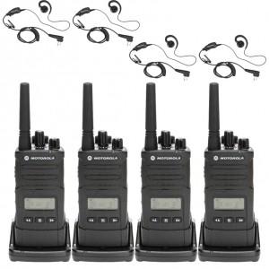 Motorola RM RMU2080d Radio Four Pack + Four Swivel Earpiece