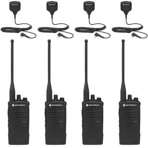 Motorola RDX RDU4100 Radio Four Pack + Four Speaker Microphones