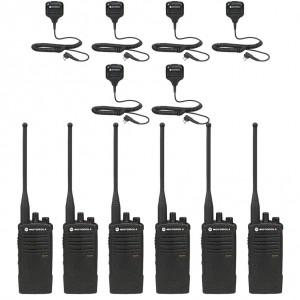 Motorola RDX RDU4100 Radio Six Pack + Six Speaker Microphones