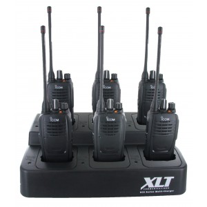 Icom F2000 Six Pack + Multi-Charger