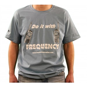 Do It With Frequency Blue Cotton T-Shirt