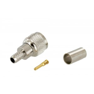 Tram Mini-UHF Male 3 Piece Crimp Connector for RG-58/U