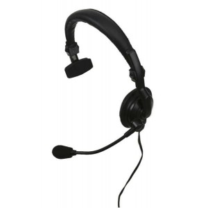 Kenwood KHS-7A Single Muff Headset w/Boom Mic & In-line PTT