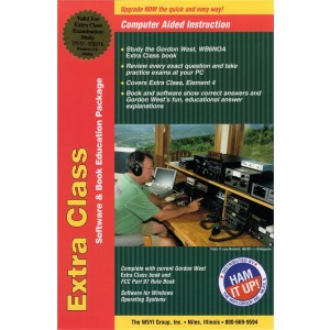 Gordon West Extra Class Manual (2012-16) w/ HamStudy Software