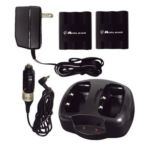 Midland AVP6 Dual Desktop Charger with Batteries