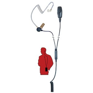 RocketScience Patriot-M1 2 Wire Surveillance Headset