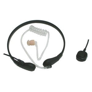 XLT TM100-MB1 Throat Mic with Finger PTT Mic