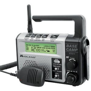 Midland XT511 Base Camp Two Way / Emergency Crank Radio