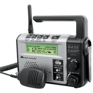 Midland XT511 Base Camp Two Way / Emergency Crank Radio