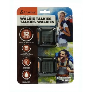 Cobra ACT220B Chat Tag Wearable FRS Two Way Radios