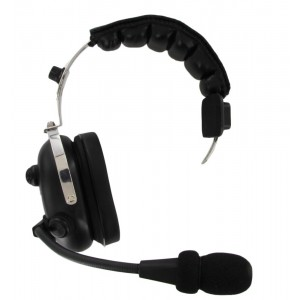 XLT HS400 Heavy Duty Single Muff Headset with PTT and Mic