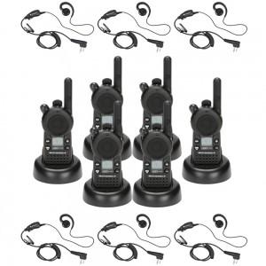 Motorola CLS1410 Radio Six Pack + Six Swivel Earpieces