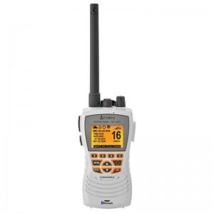 Cobra MR HH600W FLT GPS BT Floating Marine Radio with GPS and Bluetooth (White)