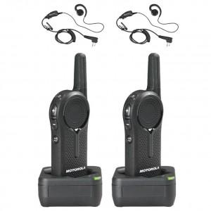 Motorola DLR1060 Radio Two Pack + Two Swivel Earpieces