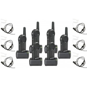 Motorola DLR1020 Radio Six Pack + Surveillance Earpieces