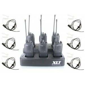 Icom F4011 Six Pack + Multi-Charger + Surveillance Earpieces