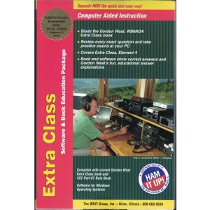 Gordon West Extra Class Manual (2016-20) w/ HamStudy Software