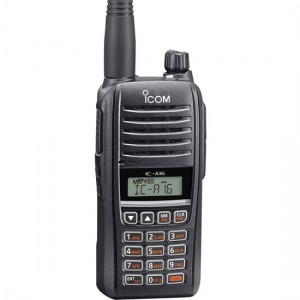 Icom A16B Air Band Radio with DTMF Keypad and Bluetooth