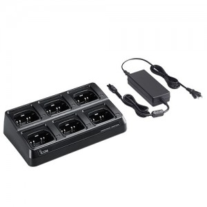 Icom BC214 6-Unit Multi-Charger For F1000/F2000 Series Radios