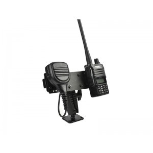 Lido Radio LM-500-BASE Heavy Duty Drill Base Mount With HT Speaker Mic Holder