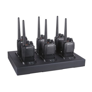 Midland MB400 Two Way Radio Six Pack / Multi-Charger Combo (MB400X6MC)