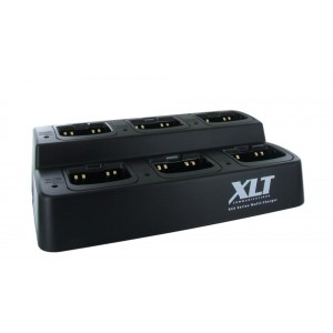 XLT 6-Unit Multi-Charger For Icom BP-265 (F3001 / F4001 / F3210D / F4210D / T70A / V80)