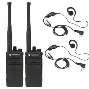 Motorola  RDX RDV5100 Radio Two Pack + Two Swivel Earpieces