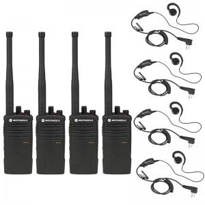 Motorola  RDX RDV5100 Radio Four Pack + Four Swivel Earpieces