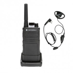 Motorola RM RMM2050 Radio + D-Ring Earpiece