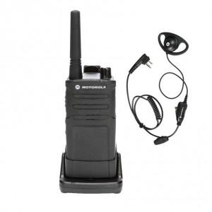 Motorola RM RMU2040 Radio + D-Ring Earpiece