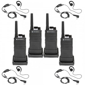 Motorola RM RMU2040 Radio Four Pack + Four Earpieces